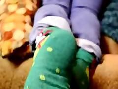 Mature MILF feet HD Socks