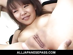Saki Ogasawaras tight ass filled encircling rubber