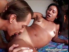 Latina MILF gets her pussy licked