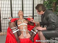 Sexy MILF to stockings gets her tits