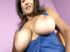 Busty milf shows off hairy pussy space fully tuggin blarney