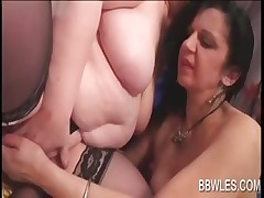 Sexy BBW lesbos rub and finger tease cunts