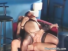 Hot grey milf enjoy hot fucking by make an issue of