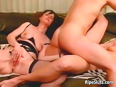 Two horny mature sluts getting wet pussy