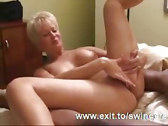 Creampie Mom Tracy to hand Interracial Party