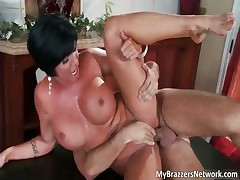Hot brunette bitch Shay Fox gets fucked