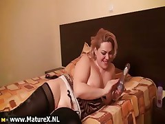 Busty grown up woman with big