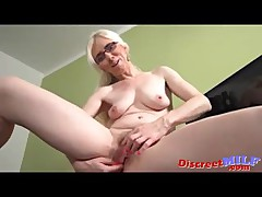 Adult blonde solo masturbation