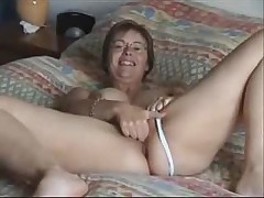 Mom's rubbing her pussy