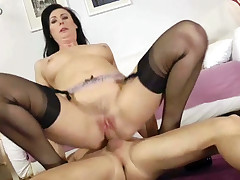 Horny MILF is getting pounded