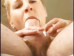 Close up POV blowjob milf cim facial bukkake