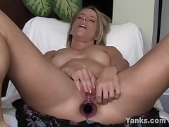 Tow-haired Skyla Toying Her Pussy Increased by Ass
