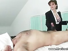 Equestrian strokes cock till he cums