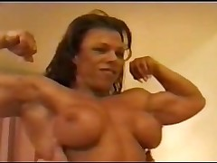 Sexy shredded Sondra dominates lucky bastard