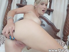 Anal toy and cocksucking