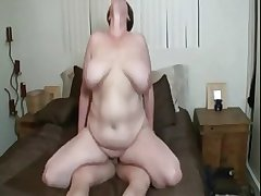 Blue BBW mature with well-known tits getting fucked