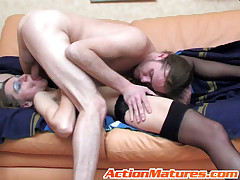 Madge together with Mike naughty mature action