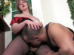 Leonora and Nicholas mature pantyhose video