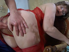 Leonora together with Herbert red hot mature action