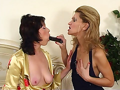 Christie and Melanie mature of a male effeminate video