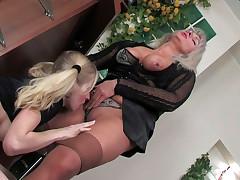 Jessica and Paulina lesbian mature work