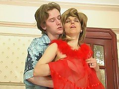 Alana together with Tobias seductive mom on video