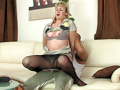 Emilia and Nicholas matured pantyhose action