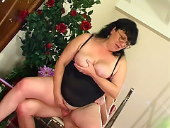 Victoria with an increment of Anthony kinky mom on the top of integument