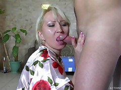 Ottilia and Jerry kinky mature action
