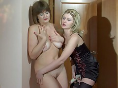 Leonora and Jaclyn live lesbian adult action