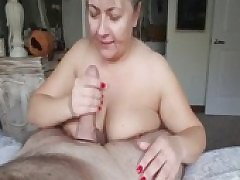 Super Mature Wife Sucks A Heavy Fat Cock