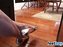 Mature Woman Dangling Toffee-nosed Heels