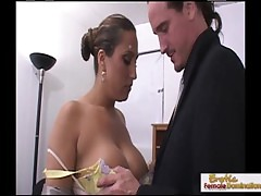 Busty Mature Brunette Makes A Cock Cum With Their way Interior
