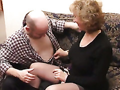 Mature Blonde Gives Head To A Man After Enjoying Cunni