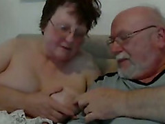 English Mature Couple Playing Close by Each Other For Me On Webcam