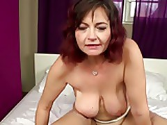 Unalloyed Mature Mom Takes Young Cock Into Queasy Vagina