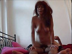 Redhead Dam beside stockings blowing bushwa plus fucking