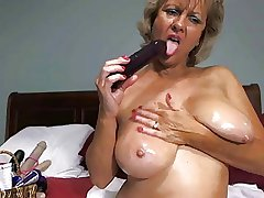 By oneself #17 (Hot Tow-haired Granny Toying Around!)