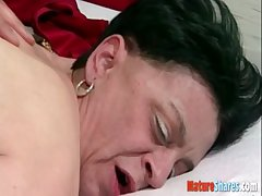granny alluring a weasel words in her pussy