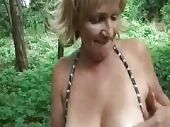 Hungarian dabbler granny outdoor