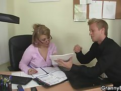 Hot office sex in grown up bitch