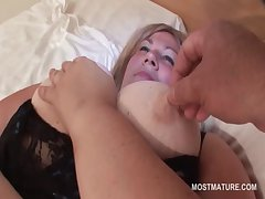 Disparaging busty adult enjoys sucking primarily a hard loaded cock