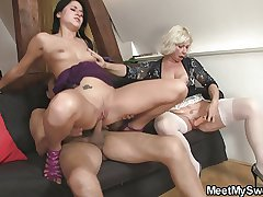 Sweetie gets lured into 3some by their way BF's parents