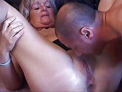 Granny Gets A Ass Pounding