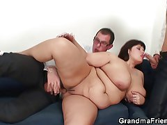 Colossal titted drab gets lured purchase 3some