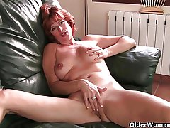British milf Liddy masturbates and gets texture fucked