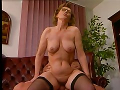 Office Milf with Stockings Fucks