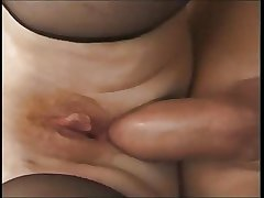 Granny old woman fucked unconnected with young baffle anal