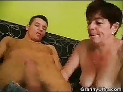 Granny Gets Horny And Starts Sucking Load of shit