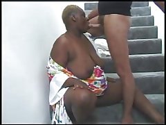 BBW Malicious GRANNY WITH Chubby Nuisance FUCKED On every side THE STAIRS